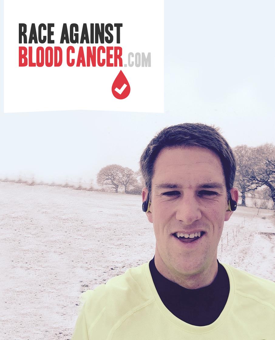Alex Clark running the London Marathon for Race Against Blood Cancer