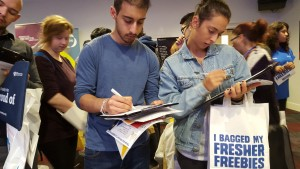 Gatecrashing Wolverhampton University Freshers Fair