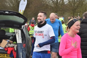 A happy runner at Telford Park Run