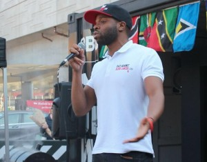 Alex Morrison Increasing Awareness at Flagz Carnival