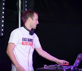 DJ Sam Smith supporting the race against blood cancer