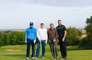 A team on the golf course for Race Against Blood Cancer