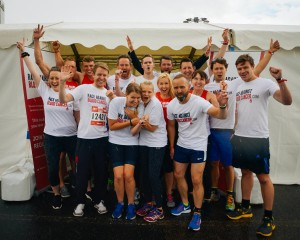 The Race Against Blood Cancer triathlon team