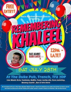 Remember Khaleel Fundraiser Poster