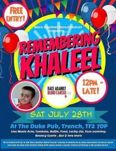 Remember Khaleel Fundraiser Poster
