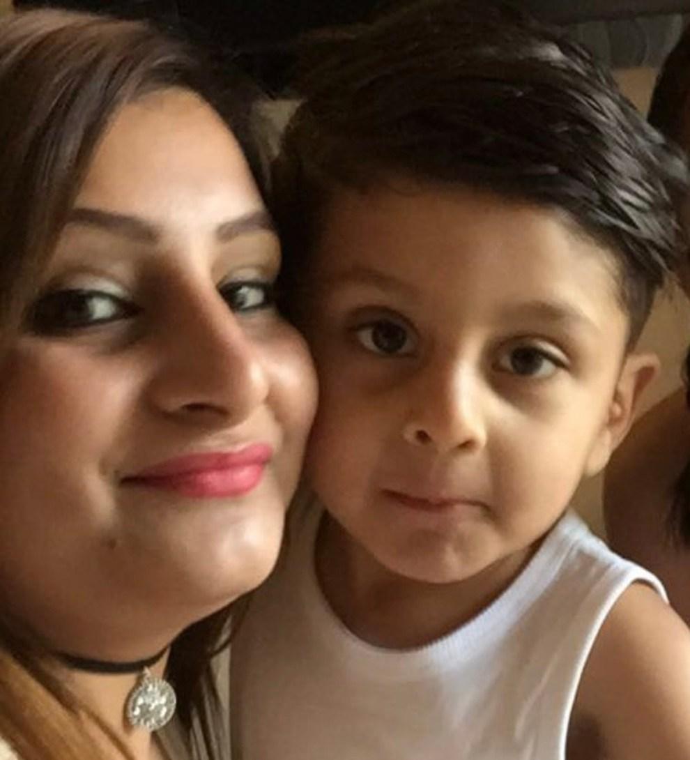 Photo shows Ihsan Khan and his Mum