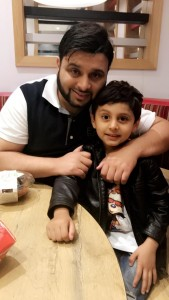 Ihsan Khan and his Father