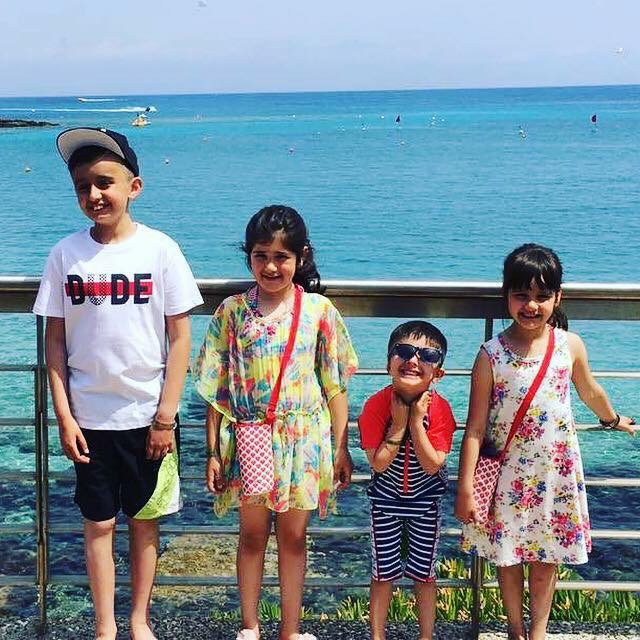 Khaleel with his sisters and brother